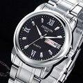 Fedylon Relógio De Quartzo Homens Top Marca de Luxo Relógios de Negócios de Aço Inoxidável Clássico Semana Calendário Mens Relógios Relogio masculino