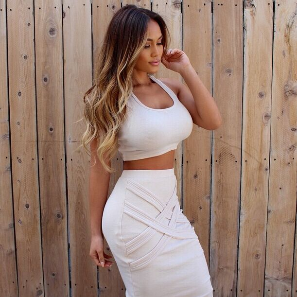 f09ab6cc70 women two piece outfits 2 piece set women summer dress 2015 sexy dress club  wear white women clothing bodycon bandage dress