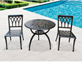 Courtyard bar cast aluminum table and chairs set Resort open-air balcony simple three-piece coffee table chair set