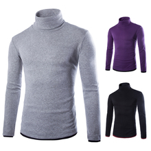 The new 2017 men's fashion boutique joining thin leisure turtleneck knitting a sweater / Male slim casual sweater pullovers