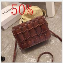 3color Retro Women Bag 2016 Brand Shoulder Bags Small Crossbody Bag For Women Handbags PU Leather Women Messenger Bag With Weave