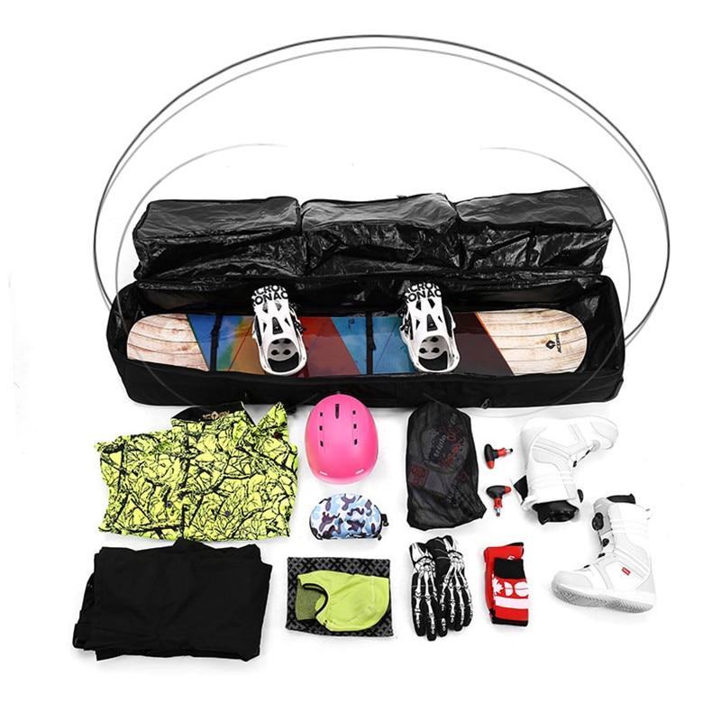Sac de Ski unisexe Double planche Snowboard sac de Ski 152 CM 165 CM grande capacité imperméable portable sacs de Ski équipement de Ski 2018 - 6