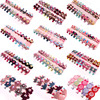 Wholesale 10 20 Pcs Lot Mixed New Candy Color Solid Print Bow Flower Hairpin Hair Clips