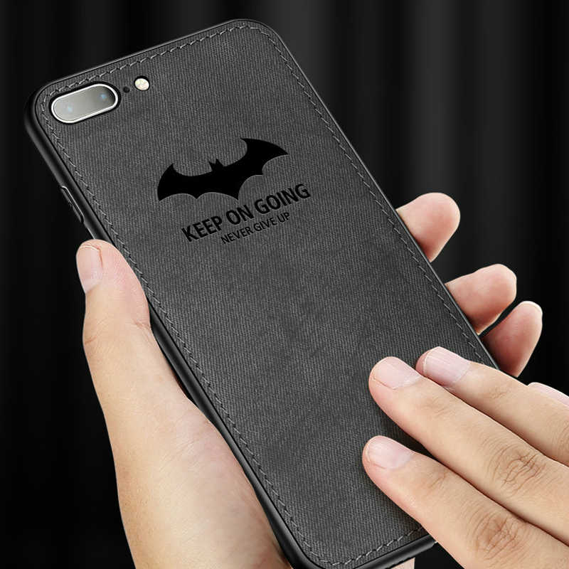 the latest 129b7 9f1d1 Luxury Batman Christmas Deer Cloth Phone Cases For iphone 7 8 6 6s Plus  Ultra Thin Soft Silicone Cover For iphone X 10 XS Max XR