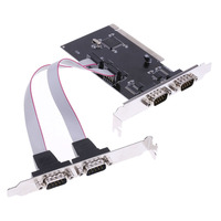High Speed 4 Port RS 232 Serial Port COM To PCI E PCI Express Card Adapter