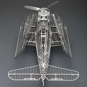 Image 4 - MMZ MODEL Jasmine 3D metal puzzle 1/48 F6F 5 Hell cat fighter Full PE skeleton Assembly aircraft model 3D Laser Cut Jigsaw Toy