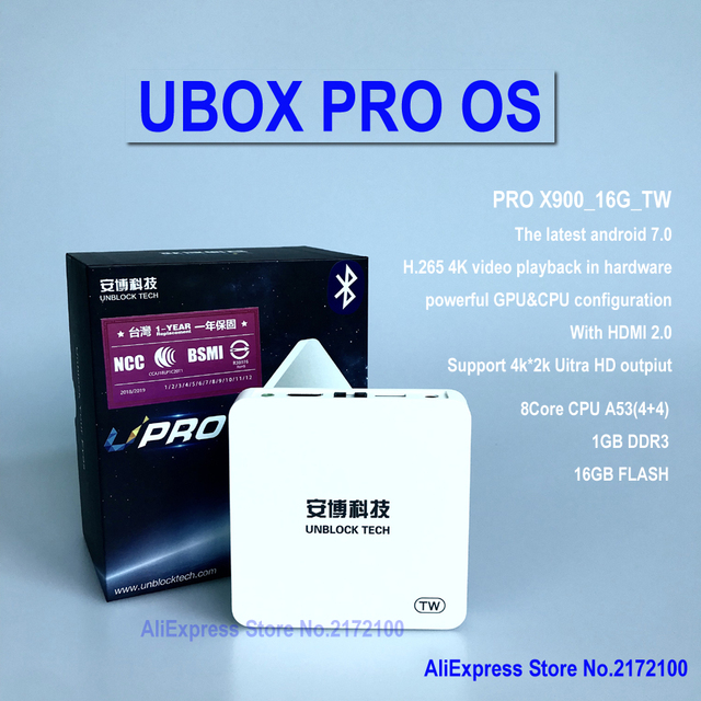 Unblock Tech Ubox Pro S900 Tw Ubox4 Bt Android 7 1000 Free Live Tv