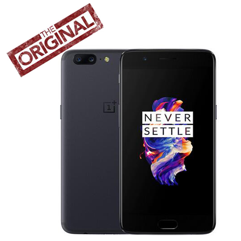 bilder für Ursprüngliche Oneplus 5 Telefon Android 7.0 Snapdragon 835 Octa Core 5,5 ''1080 P 6 GB/8 GB RAM 64 GB/128 GB ROM 20.0MP 16.0MP