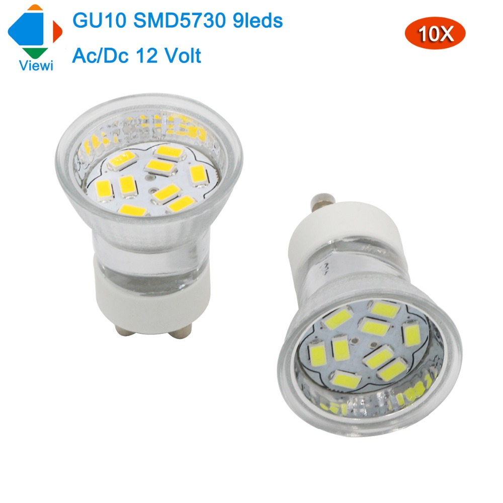 Viewi Gu10 volt 10x light 12 led spotlight mini glass bulbs Nv8mnw0O