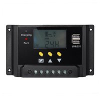LCD display 30A PWM solar panel regulator charge controller 12V / 24V 360W / 720W with Dual USB For campers / caravans / boat