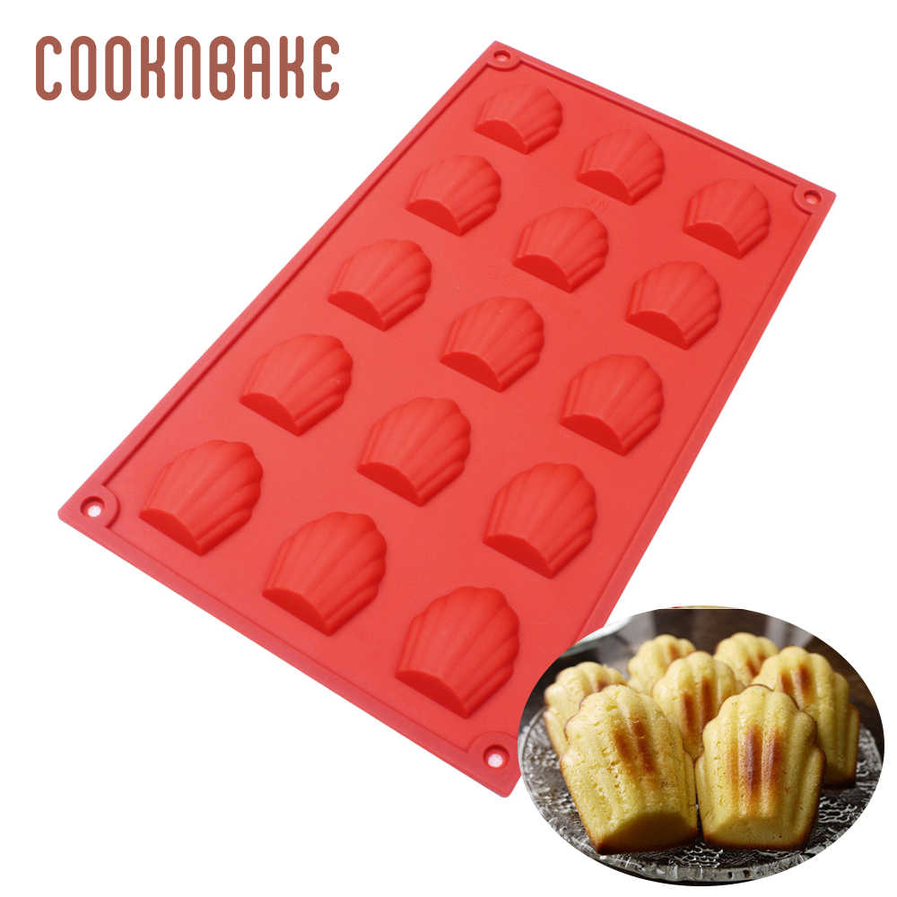 Cooknbake Siliconen Shell Chocolade Mould Cookie Biscuit Mold Silicone Ice Cube Jelly Mallen Cake Bakvormen Bakken Tool 15 Gaten