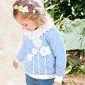 Новое поступление 2016 весна 3 4 5 6 7 8 9 10 11 12 лет девочка цветочные вышивка полный рукав хлопок милые балахон