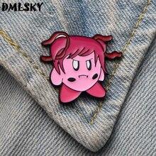 DMLSKY Doki Literature Club minika Cartoon Metal Enamel Pins Backpack Badge Clothes Tie Pin kids Jewelry M3243