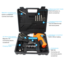 цена на Cordless Drill Screwdriver Rechargeable 3.6V Electric Screwdriver Tool Bit Kit USB Charger Drill Mini Wireless Power Tools