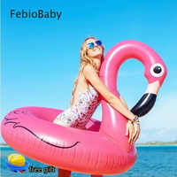 Summer Outdoor Inflatable Ride on Life Buoy Flamingo Bath Water Toy Pool Rafts 2 Sizes For Children & Adult Swim Tool Free Pump