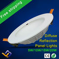 Free shipping Ultra thin New Design led down light  5W 10W 15W 20W  led ceiling recessed grid downlight slim round panel light