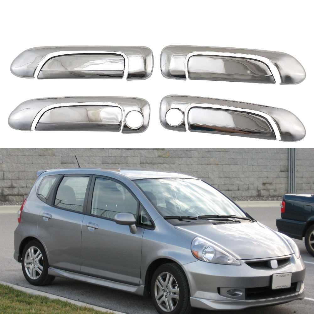 STAINLESS STEEL DOOR HANDLE COVER FOR HONDA FIT JAZZ GD3 2004 2005 2006 2007