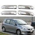 Для Honda Fit Jazz 2002  2003  2004  2005  2006  2007  чехлы для чашек с дверными ручками  АБС-пластик  хромированные аксессуары  наклейки  Стайлинг автомобиля