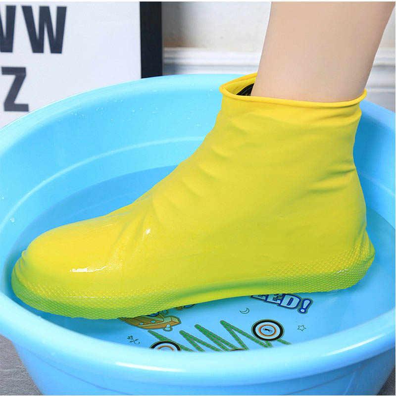 Chaussures imperméables imperméables antidérapantes en Silicone réutilisables semelles chaussures bottes glissantes en plein air Camping randonnée chaussures de pêche woma