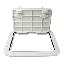 Non-slip Marine Deck Access Hatch Lid ABS Plastic Boat Accessories Marine  16.7 x 12.4 x 0.8 inch White