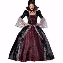 Disfraz de vampiro gótico para mujer Europa vampiro adultos traje de Cosplay  para Halloween carnaval fiesta 790725896f5