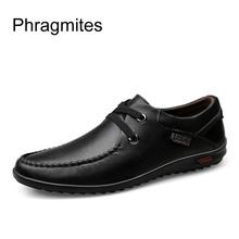 Phragmites Classic Comfortable Men Casual Shoes Loafers Men Shoes Quality Split Leather Shoes Men Flats Hot Sale Moccasins Shoes