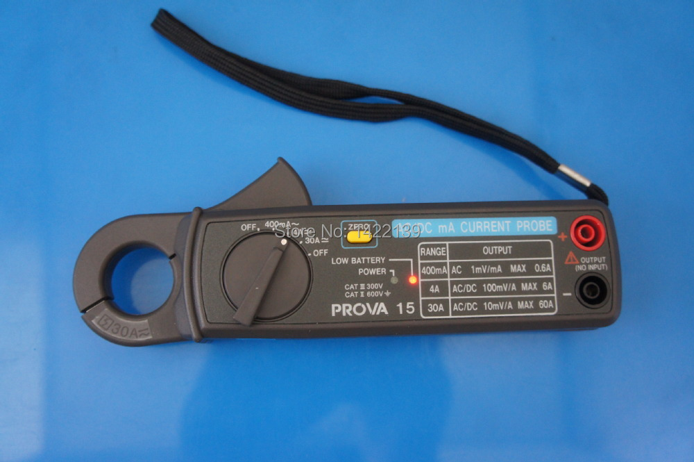 TES PROVA 15 AC/DC mA Current Probe High Resolution DC 1mA, AC 0.1mA Clamp Meter / Leakage Current Tester