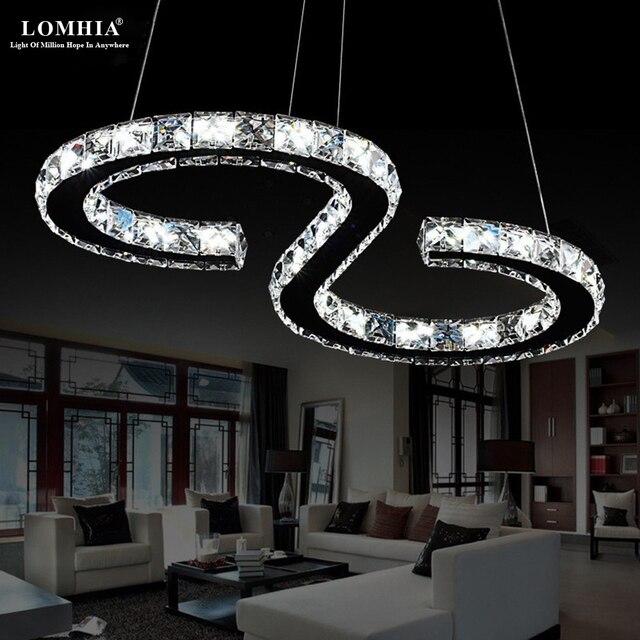 Minimalist Modern S 8 Shape K9 Led Pendant Lights Lamps Restaurant Bar Bedroom Ac90 260v Lighting Fixtures New