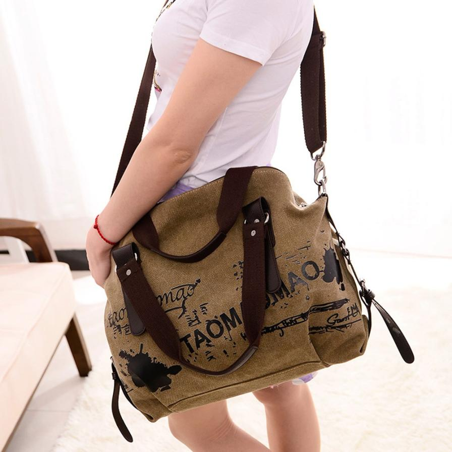 2019 New Fashion Womens Large-Capacity Retro Canvas Bag Handbag Stundent Shoulder Messenger Bag messenger bags for women #W52019 New Fashion Womens Large-Capacity Retro Canvas Bag Handbag Stundent Shoulder Messenger Bag messenger bags for women #W5