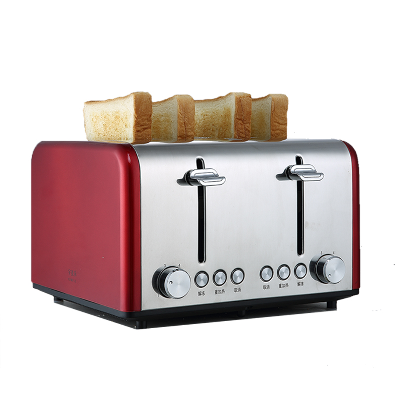 Toaster Fully automatic stainless steel Household heating thaw 4 pieces Multifunction Spit driver Barbecue machine Тостер