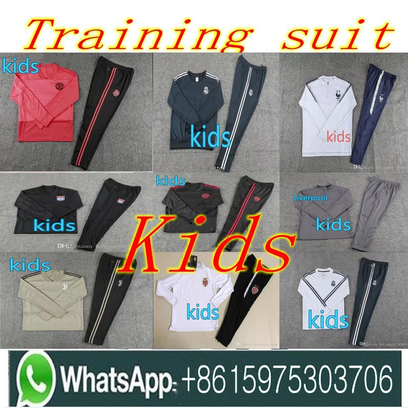 noir ivoire Mbappe bleu or Green marron ardoisé Jogging vert 1819 De Coupe Enfant army gris 19 Real Survêtement Juventus Football Madrid Ciel Beige Du Enfants rose rouge lavande pourpre Monde 18 Costume Formation pu orange kaki Veste wgqA8HR