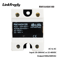 RM1A40A100 5pcs SCR SMD 100A AC Solid State Relay,Output:42-440VAC Input:20-280VAC/22-48V DC,Soft Starter SSR Relay Switch Board