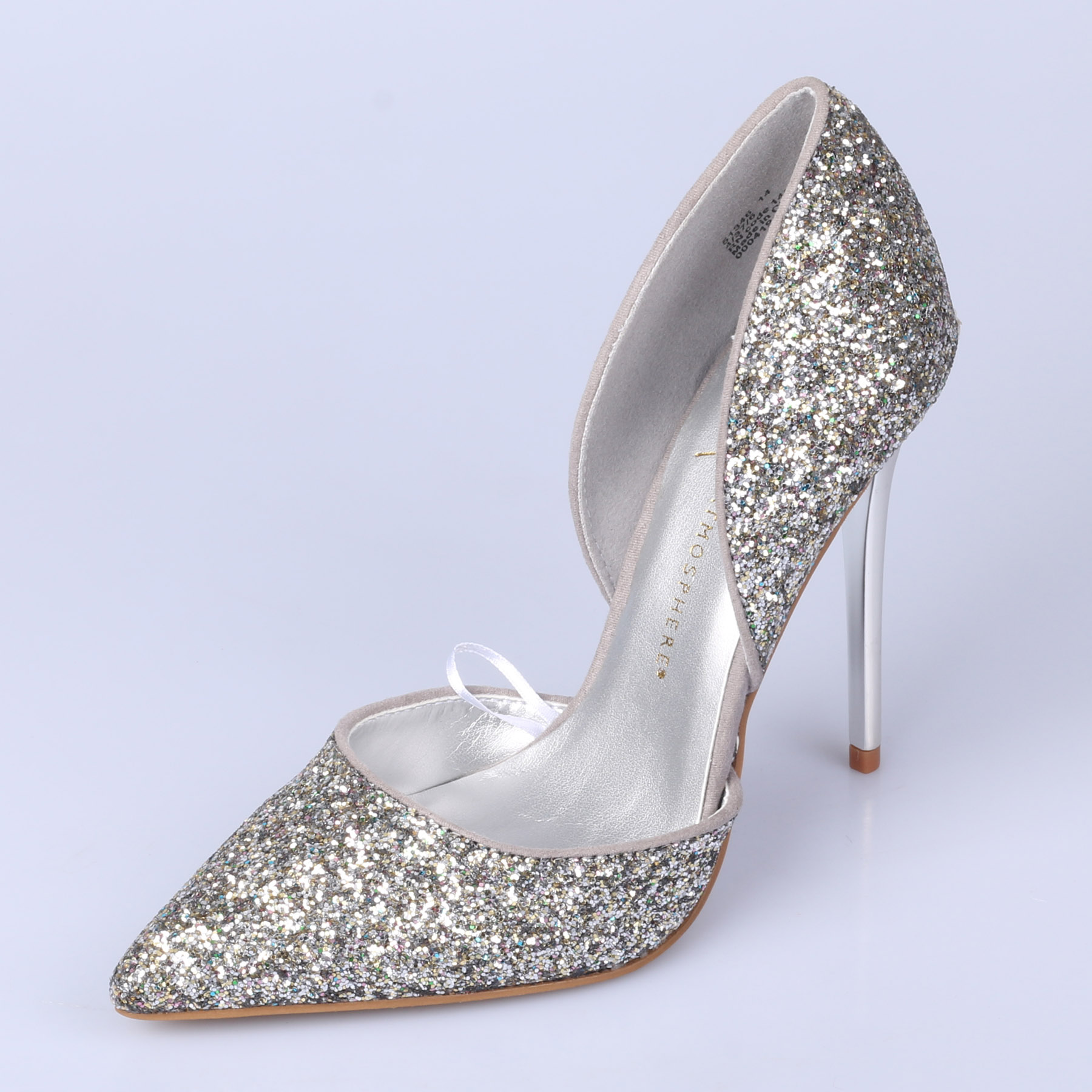 Fashion spring and autumn brief shallow mouth sexy pointed toe glitter high-heeled shoes wedding shoes pumps shoes woman spring and autumn high heeled 11cm sexy shallow mouth thin heels flock pointed toe singles shoes size 35 39