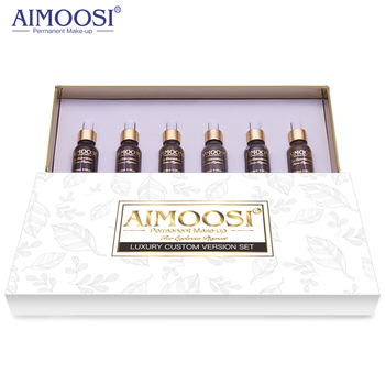 AIMOOSI Top Concentrated  Eyebrow Micro-pigment for Permanent makeup tattoo Eyebrow Microblading pigment Combination tattoo ink 5pcs aimoosi permanent tattoo makeup eyebrow