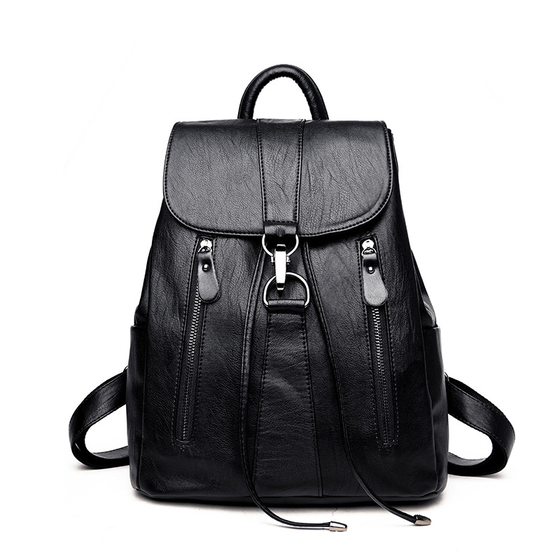 2018 Leather Backpack Women Fashion Feminine Backpack Soft PU Women Backpacks School Bags for Teenager Girls women backpack new fashion casual pu leather ladies feminine backpack candy color korea school style solid student mini backpack