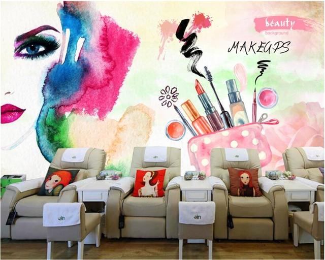 Beibehang senior silk cloth papel de parede wallpaper colored nail shop beauty salon decoration - Papel para salon ...