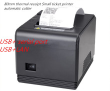 Factory direct sales 80mm Automatic cutting thermal printer receipt machine printing speed fast USB +LAN interface