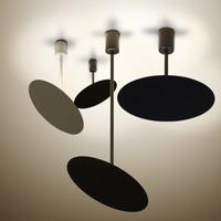 Nordic Europe Modern brief black white Pendant Lights LED lamp adjustable minimalist for restaurant cafe bedroom living room