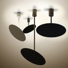 北欧ヨーロッパ現代の簡潔な黒ホワイトペンダントライト LED ランプ調節可能なミニマリストのレストランカフェ寝室リビングルーム