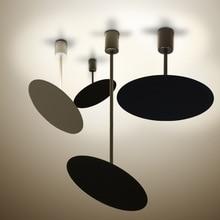 Nordic ยุโรปโมเดิร์นสั้นสีดำสีขาวจี้ไฟ LED โคมไฟปรับ minimalist สำหรับร้านอาหาร cafe ห้องนอนห้องนั่งเล่น