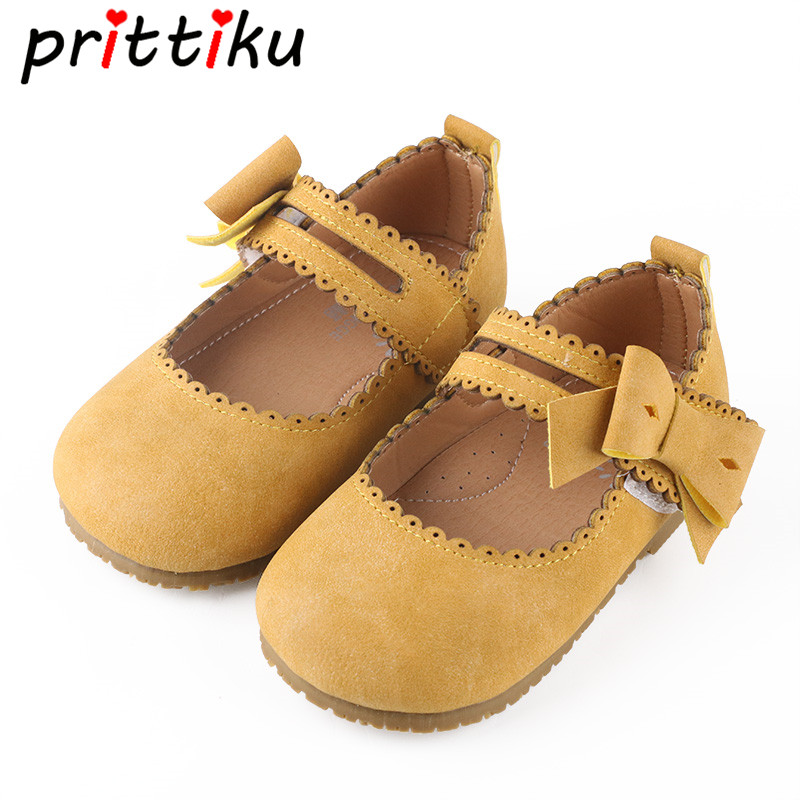 Girls Cute Mary Jane Vintage Flats Baby/Toddler/Little Kid Microfiber Leather Bow Children Retro Princess Fashion Dress Shoes 2018 winter fur warm male high top shoes adult flock sneakers men designer shoes casual flat plush walking brand footwear