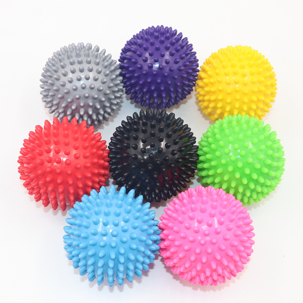 7.5cm 9cm Massage Ball Durable PVC Spiky Trigger Point Sport Fitness Hand Foot Pain Relief Plantar Fasciitis Reliever Hedgehog