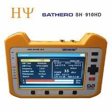 [حقيقية] ساثيرو SH 910HD DVB S2 الرقمية جهاز قياس القمر الصناعي Satfinder HD مع الوقت الحقيقي محلل الطيف وظيفة 7 inch