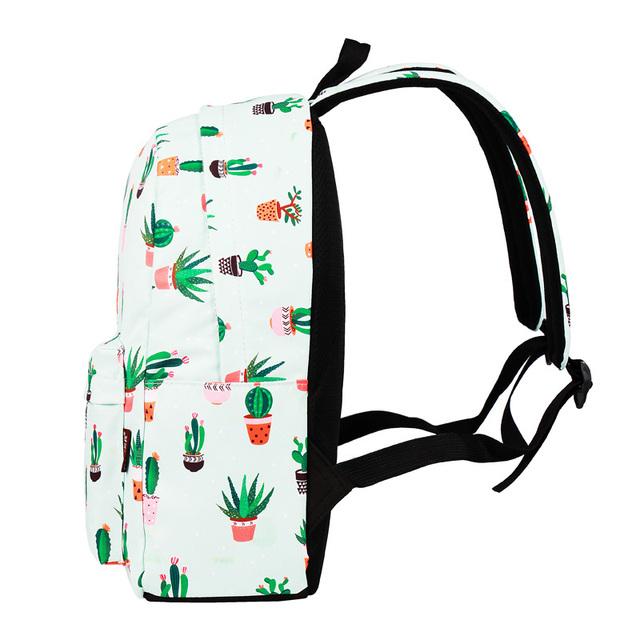 Cactus Print School Backpack (14″)