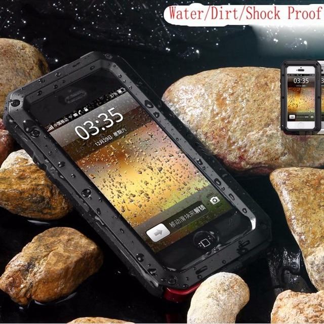 Para iphone 5 case armadura protectora para iphone 6 s impermeable case i5 5S 6 6 s plus phone cases para samsung galaxy s7 s6 s5 cubierta