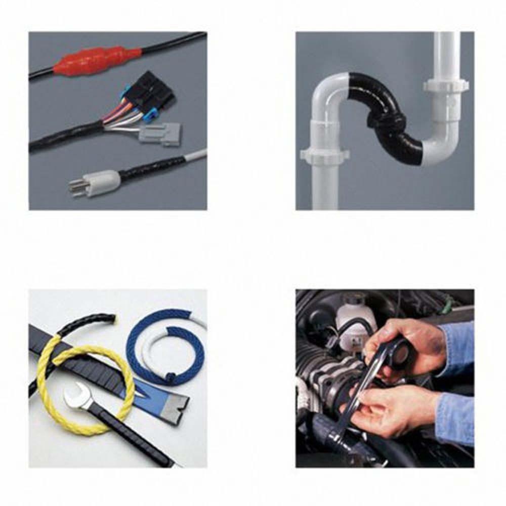 Black Rubber Silicone Repair Waterproof Bonding Tape Rescue Self Fusing Wire Hot