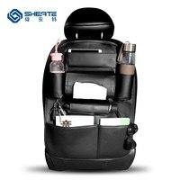 SHEATE Car seat lại organizer Auto lưu trữ pocket Đa Da túi Ô Mô Key Uống chai Điện Thoại collector túi Móc