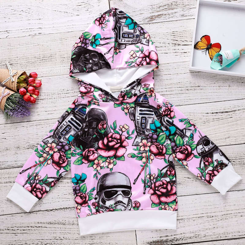 Children Baby Girls Long Sleeve Hooded Tops Outfits Clothes Outwear Spring Autumn Tees Winter Shirts