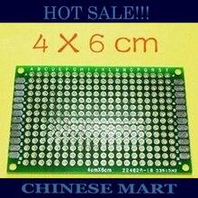 10PCS/LOT Double Side Prototype PCB Universal Board Experiment Matrix Circuit Board 4x6CM 2.54MM Pitch good quality #LS363(China (Mainland))