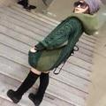 winter sweaters Womens Fleece Coat Warm Solid Loose Knitted Cardigans Female Fashion Long Sleeve Knitwear Hooded Zip Outerwear